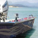 Railblaza Kamera Montageadapter auf einem Aluminiumboot