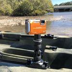 Railblaza Kamera Montage-Kit mit einer Digitakamera