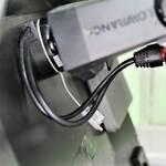Railblaza StarPort E-Serie mit Kabeldurchführung in Kombination mit einem Lowrance Echolot