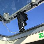 Railblaza Lukenkeil Hatch Wedge mit um 125 mm geöffneter Luke und Sicherungskordel