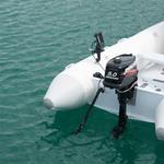 Railblaza Echolotgeber Halterungsset montiert an einem Schlauchboot