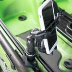 Railblaza Quickgrip Paddel Clip zum Halten eines Smartphones