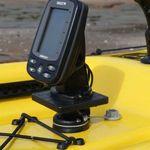 Railblaza drehbare Montageplattform S mit Humminbird PiranhaMax Fishfinder