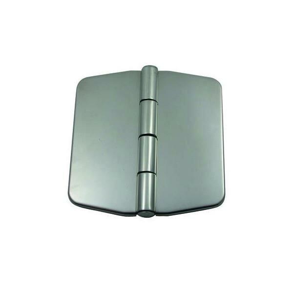 Scharnier für Schranktüre mit Abdeckung 75x73 mm - Edelstahl