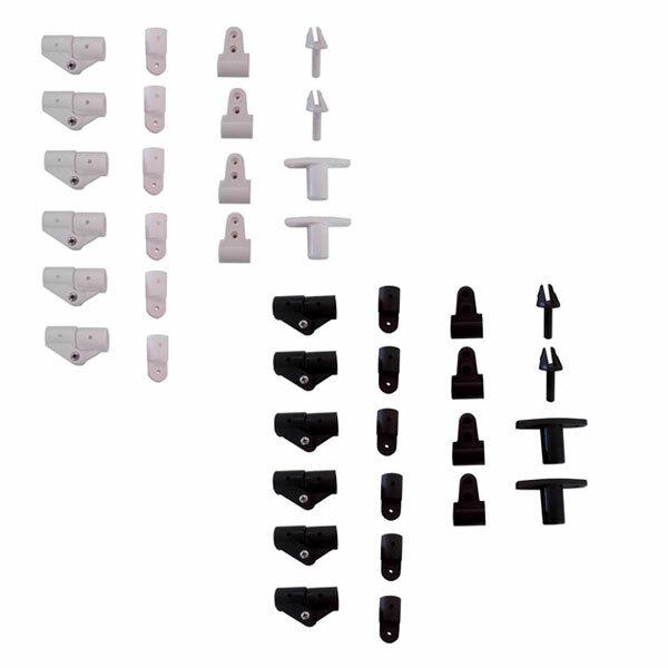 Montage-Kit aus Nylon für Bimini Top mit 3 Bögen - Ø 20 mm - weiß