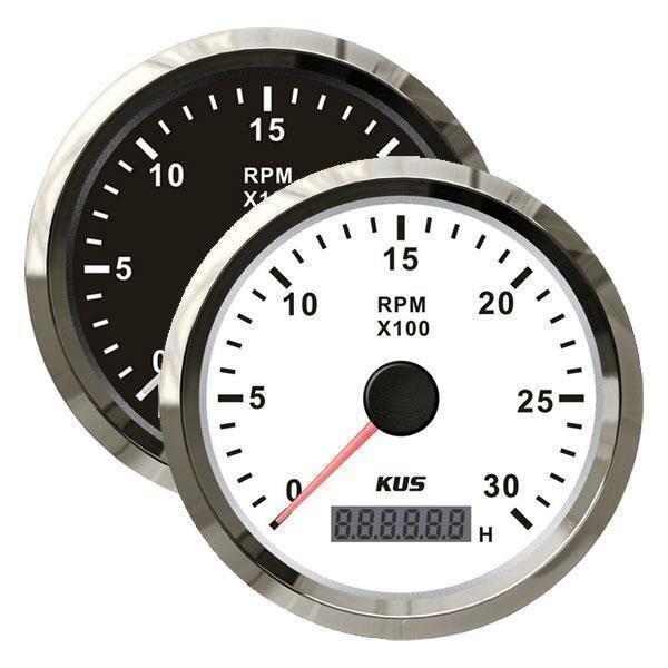 KUS Drehzahlmesser mit Betriebsstundenzähler für Innenborder