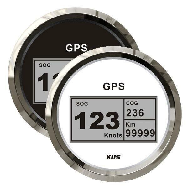 KUS GPS Digital-Speedometer mit Anzeige für Kurs, Geschwindigkeit und gefahrene Strecke