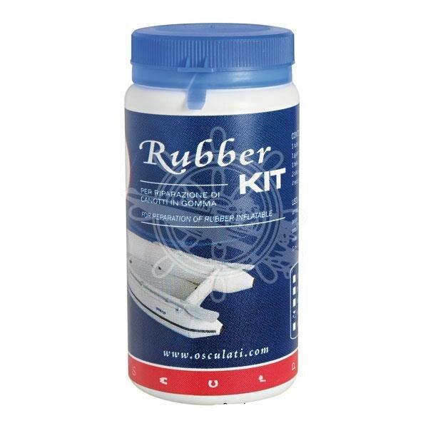 Reparatursatz für Schlauchboote aus Neopren / Gummi in weiß