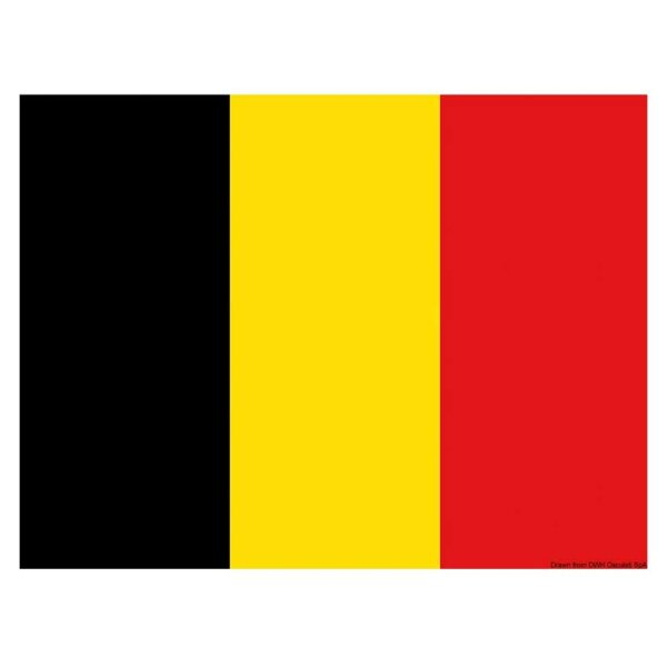 Gastlandflagge / Flagge / Bootsflagge - Belgien 20x30 cm