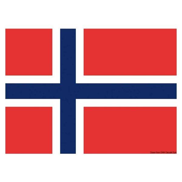 Gastlandflagge / Flagge / Bootsflagge - Norwegen 20x30 cm