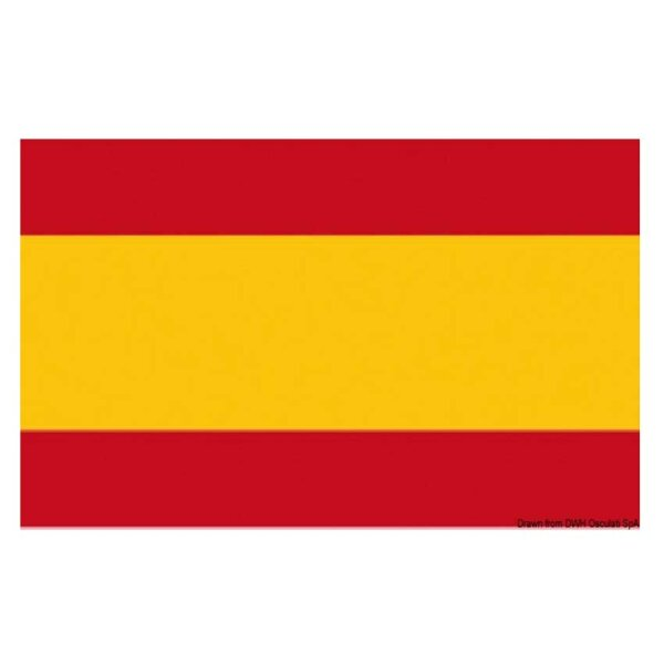 Gastlandflagge / Flagge / Bootsflagge - Spanien 20x30 cm
