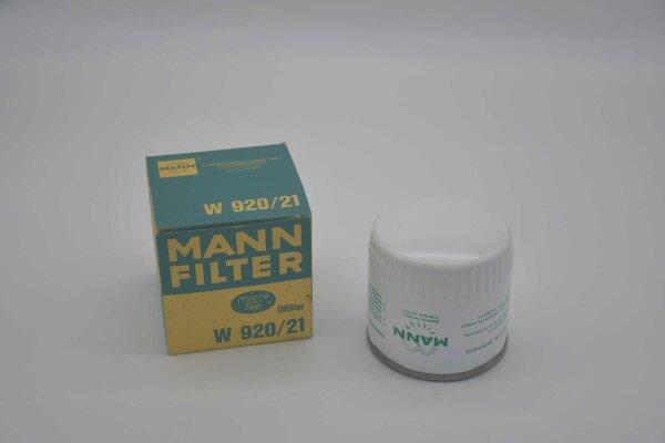 MANN Ölfilter W 920/21 für Mercruiser / Bukh