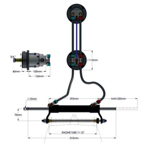 Hydrodrive TL1-16MRA-DS Anschluss-Kit für zweiten Steuerstand / Flybridge