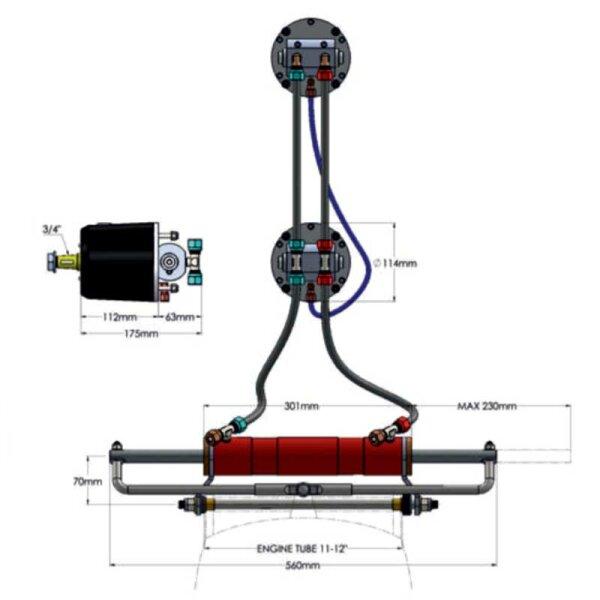 Hydrodrive TL2-40MRA-DS Anschluss-Kit für zweiten Steuerstand / Flybridge